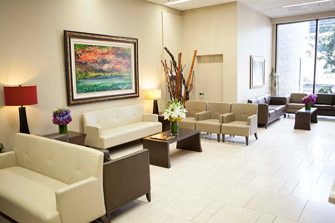 Beverly Hills Cancer Center building lobby
