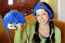 woman wearing cold cap