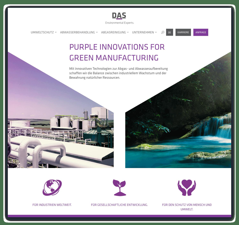 Startseite der DAS Environmental Expert