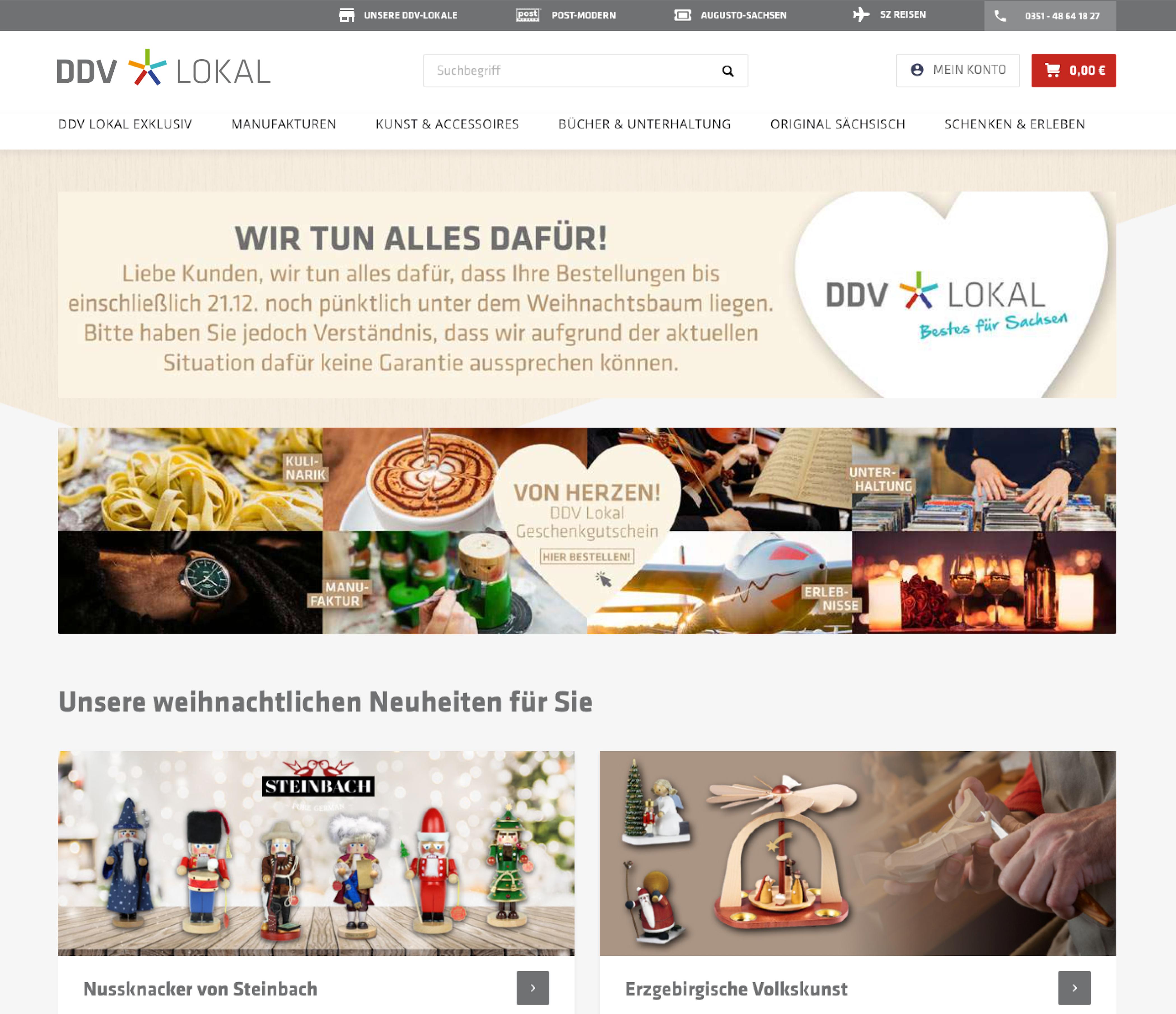 DDV Lokal - der neue Onlineshop