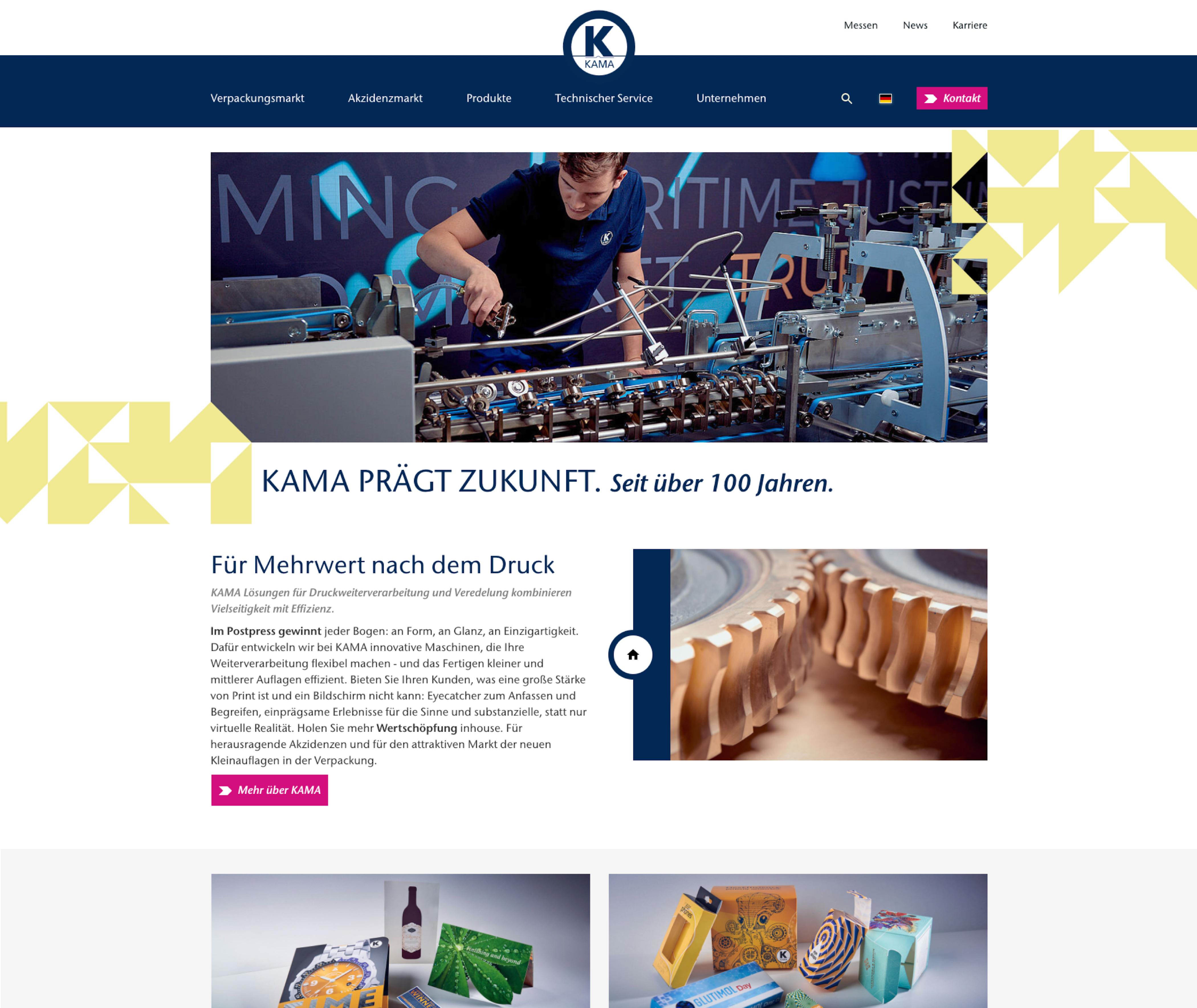 Neue Startseite von KAMA