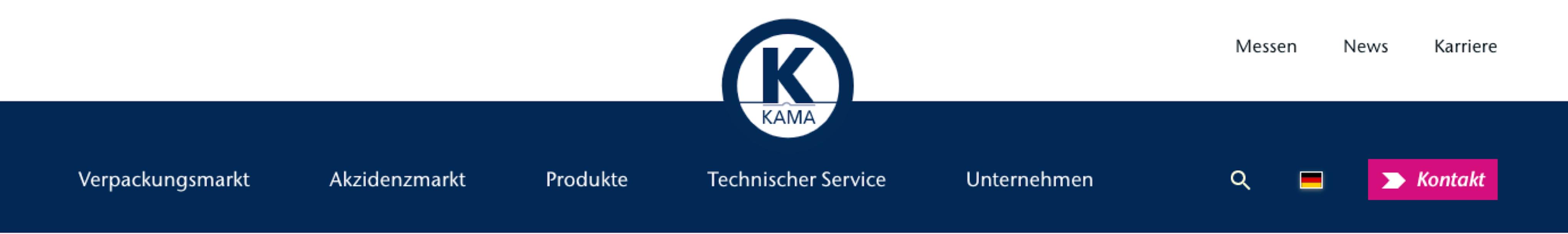Navigation der KAMA GmbH