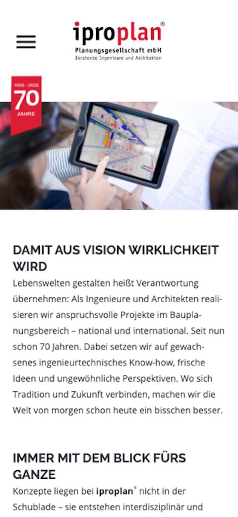 mobile Ansicht