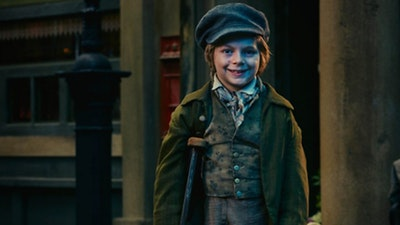 Zaak Conway as Tiny Tim in Dickens's A Christmas Carol