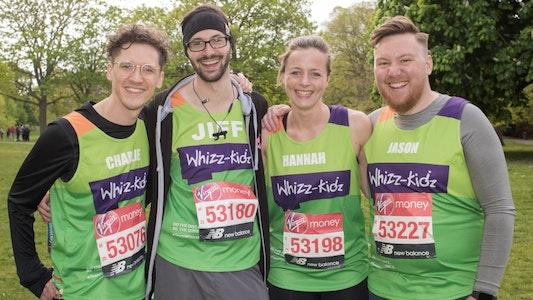 group of fundraisers at london marathon