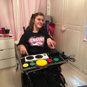 katie with microsoft accessibility control