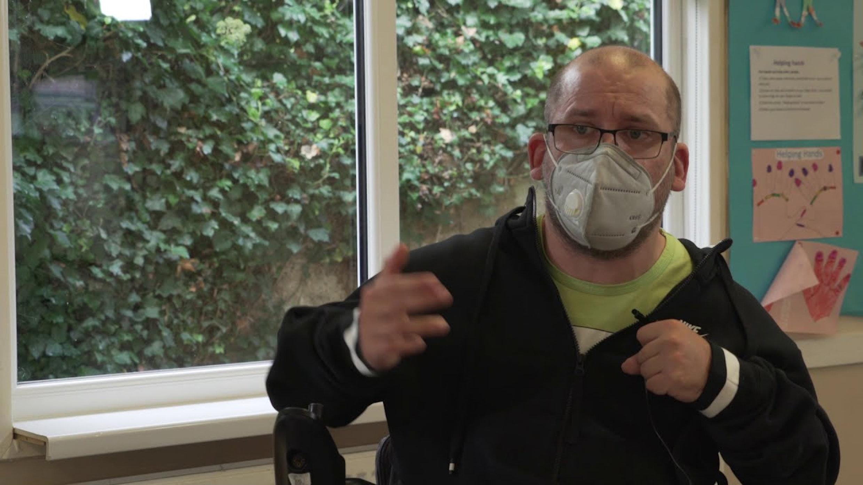 power wheelchair skills training - opening doors