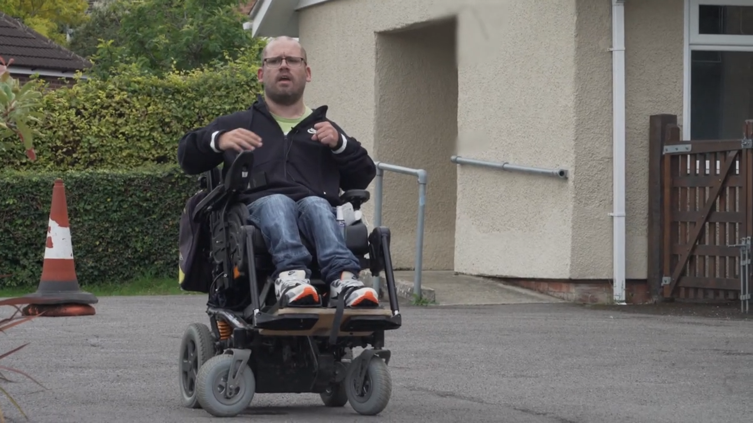 power wheelchair skills training - hills
