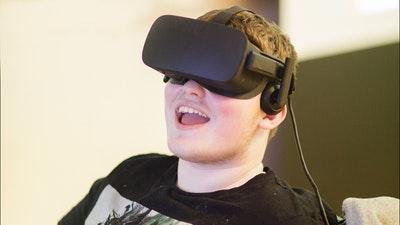 young man with VR headset