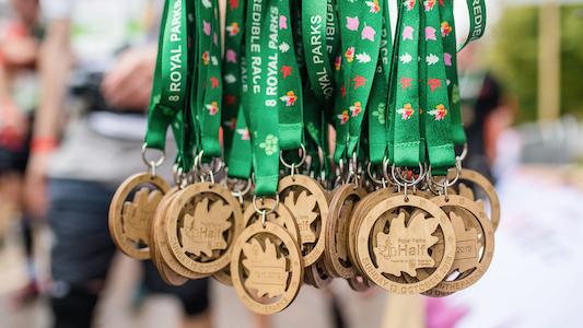 Royal Parks Half Marathon medals 2019 (RB Create image)