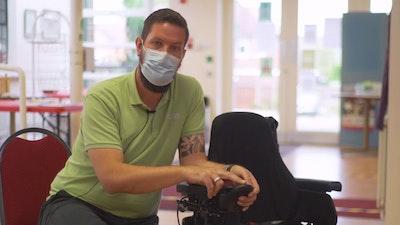 John diagnosing RNET, VR2 & Dynamics wheelchairs
