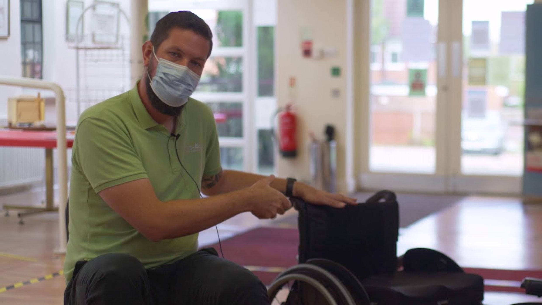 john showing basic chair maintenance