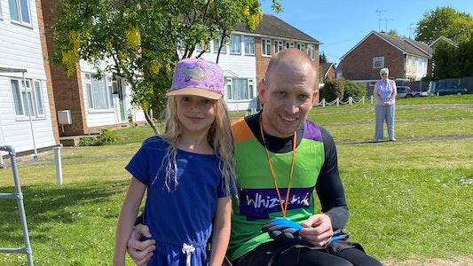 Whizz-Kidz Supporter with Daughter