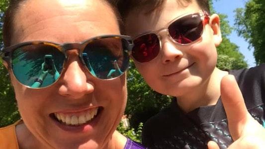 Whizz-Kidz Supporter with Son