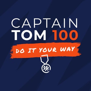Captain Tom 100 Logo