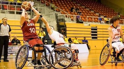 Jade playing wheelchair basketball, credit: Steffie Wunderl
