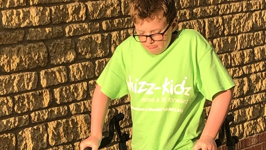 McKenzie walks for his 2.6 Challenge