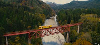 Tags: bridge, building, railway, rail, transportation, train track, vehicle, train