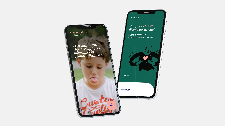 Screens of the AIDA app.