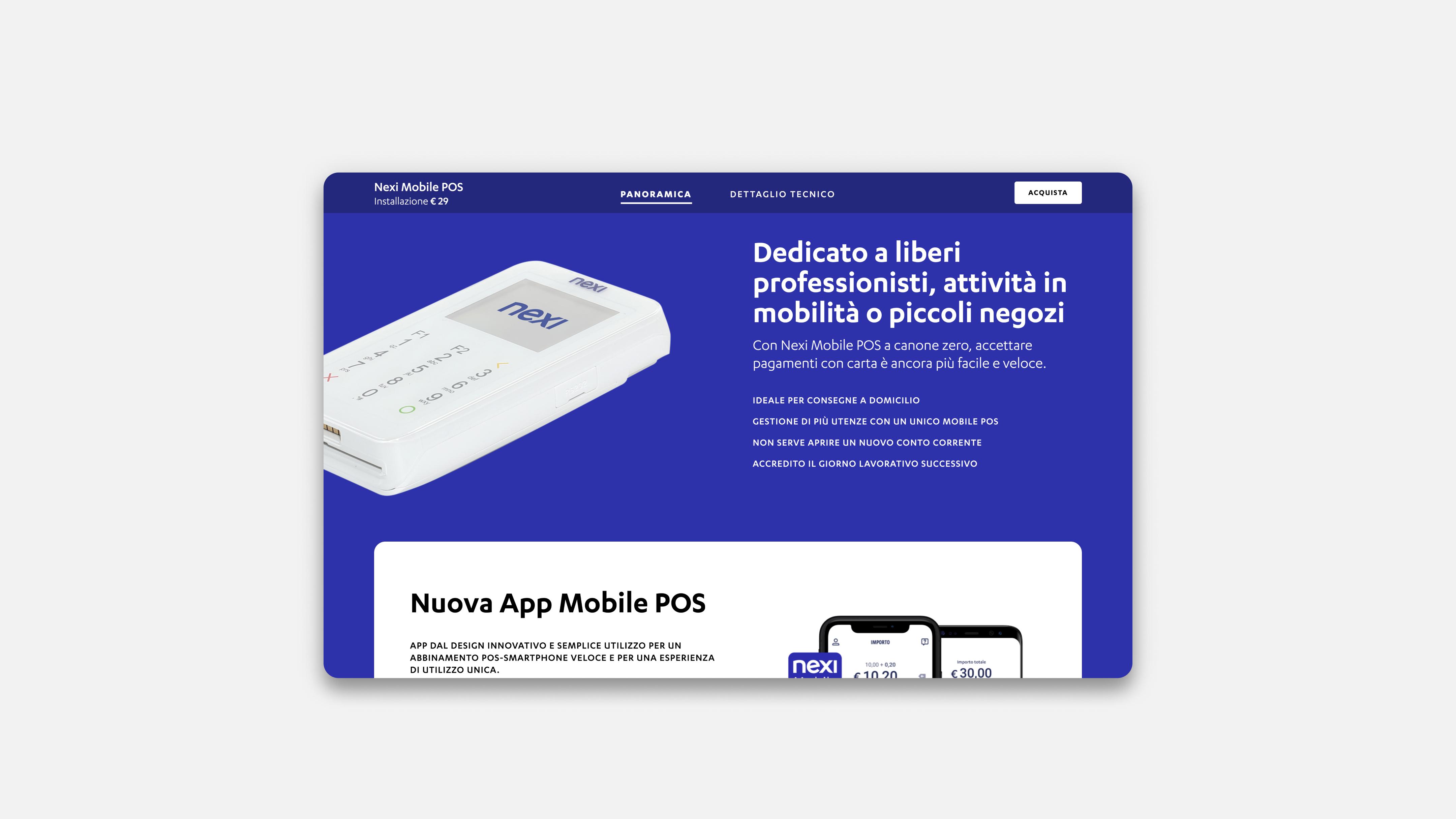 Nexi Shop's product page