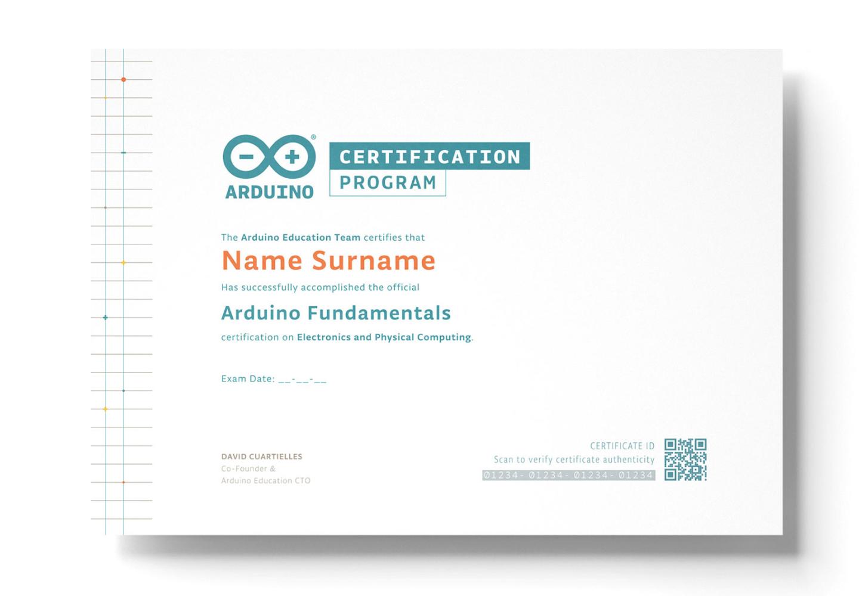 Arduino Fundamentals Certification