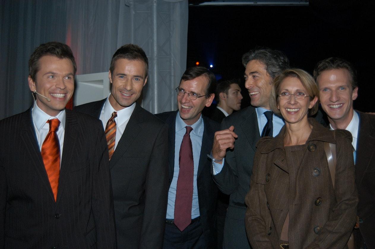 Markus Breitenecker, Kai Pflaume, Guillaume de Posch, Peter Christmann, Stefanie Bleil, Alfonso Thurn und Taxis
