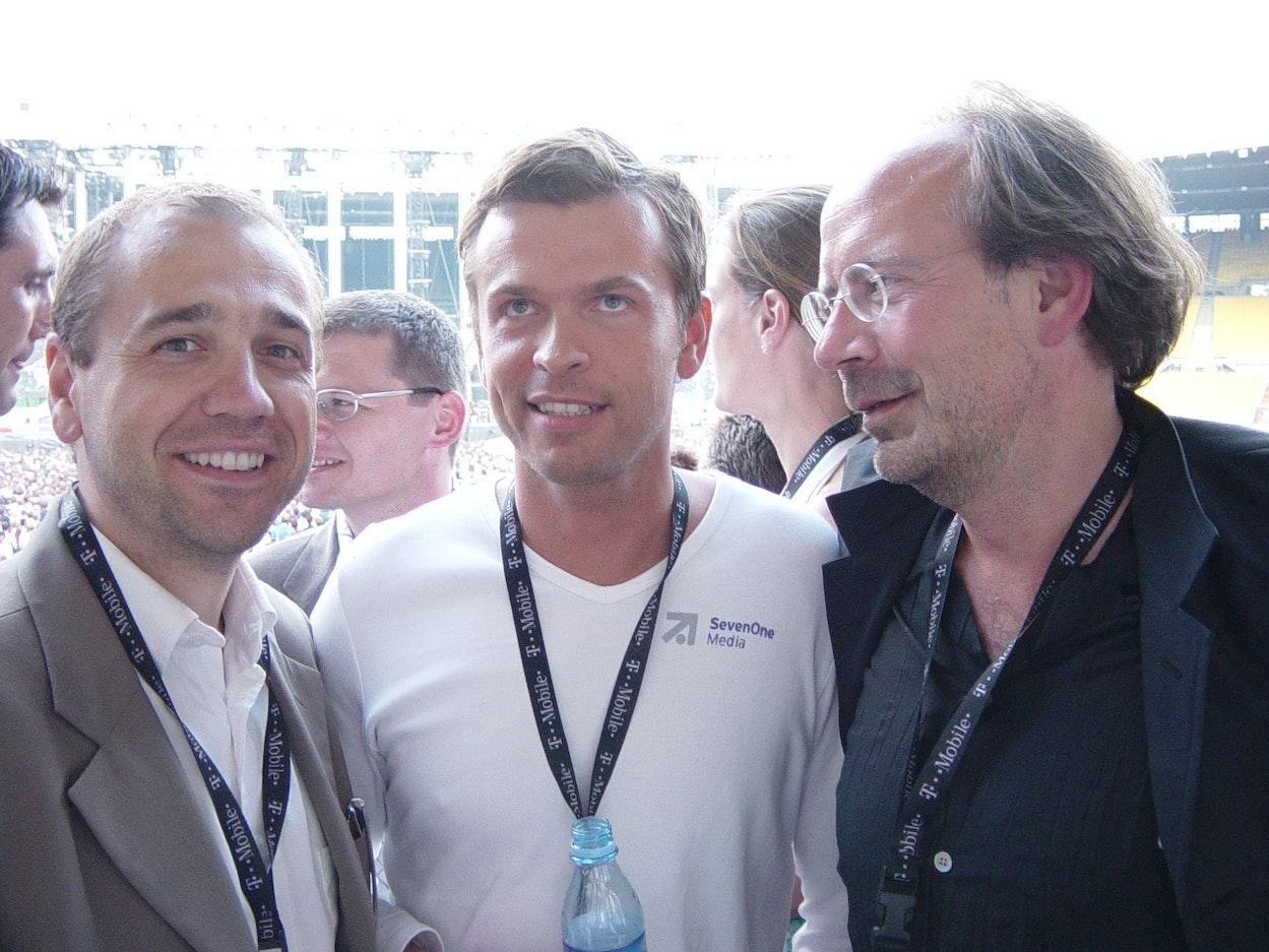 v.l.n.r. Andreas Barth (Infoscreen), Markus Breitenecker (SevenOne Media Austria), Eugen Russ (Vorarlberger Medienhaus)