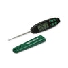 The sleekest thermometer we've got. Not only that, but it's the quickest, and reads up to blistering temps. It switches itself off too. Batteries included.