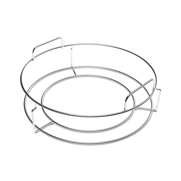 Place and remove the ConvEGGtor with ease. Also works with the Two Piece Multi-Level Rack to the ConvEGGtor Basket for multi-level cooking.