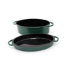 Oval Enamelled Cast Iron Dutch Oven (5.2L)