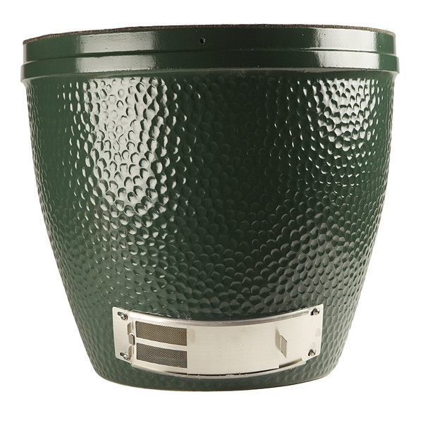 A replacement base for the Big Green Egg, made from NASA-grade ceramics. Classic Racing Green, featuring the EGG's characteristic stippling.