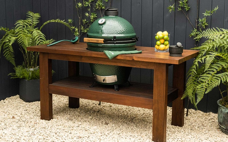 Premium Royal Mahogany Table for Large and XL Big Green Egg