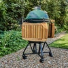 Large Big Green Egg Integgrated nest and shelves