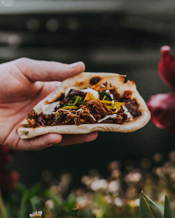 Smoked Beef Naan