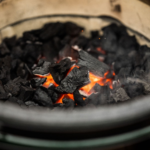 It's easy to light the EGG; just place a firestarter in the centre of your charcoals and wait!