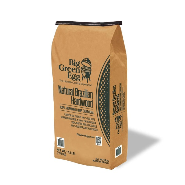 Authentic Brazilian lumpwood charcoal, sustainably sourced for the Big Green Egg