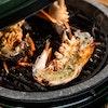 MiniMax Big Green Egg Cast Iron Searing Grid grilling lobsters