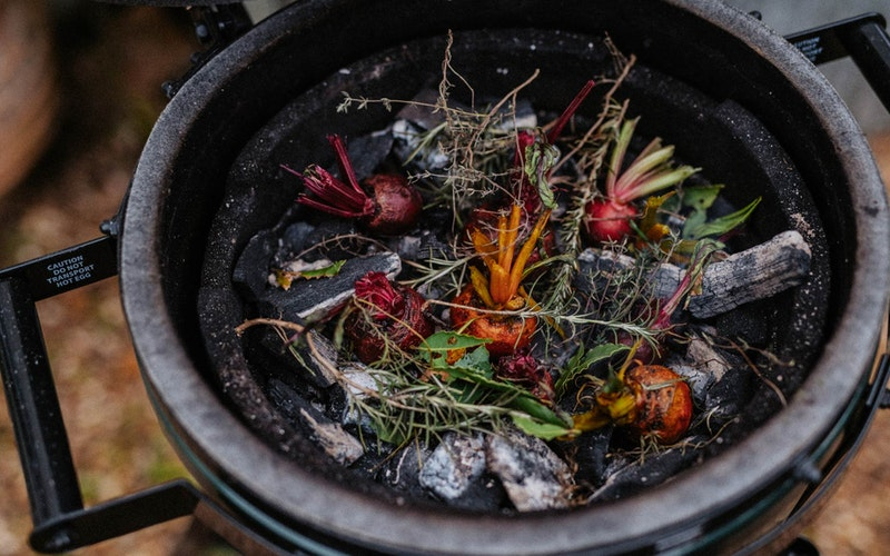 Cooking dirty on charcoal for extra flavour