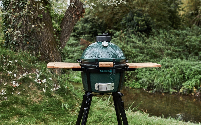 MiniMax Big Green Egg by the river
