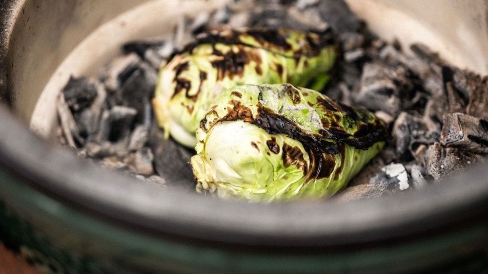 How to set up for cooking dirty with hispi cabbage