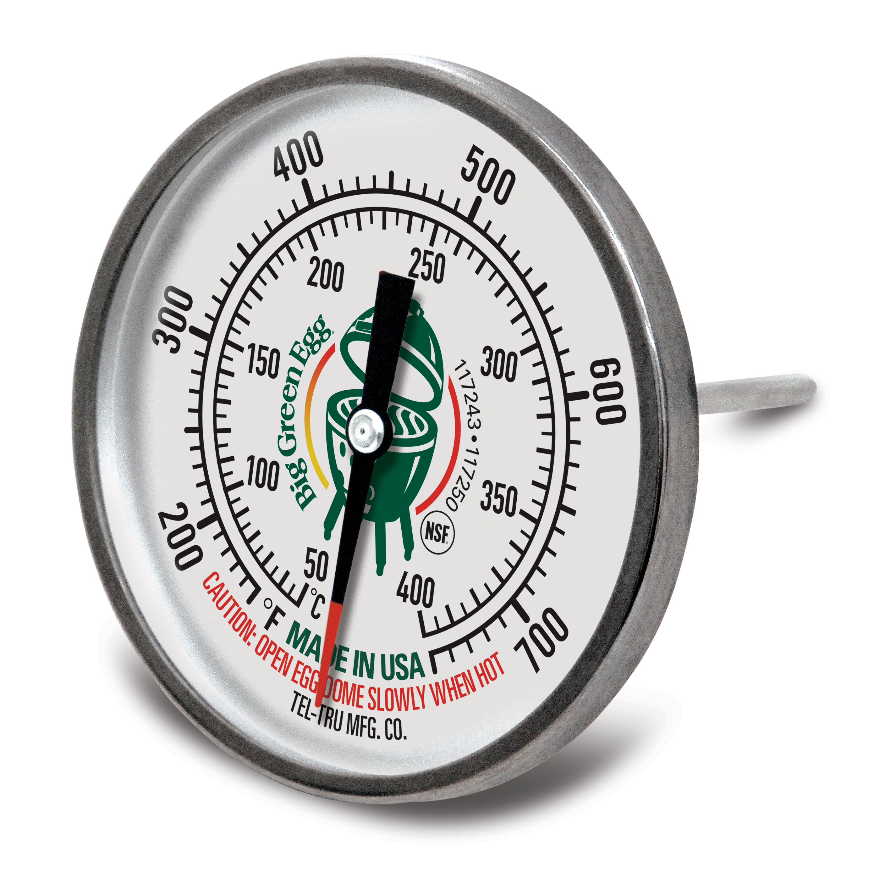 """Tel-Tru 3"""" Thermometer Dome Gauge   Spare Parts   Big Green Egg"""