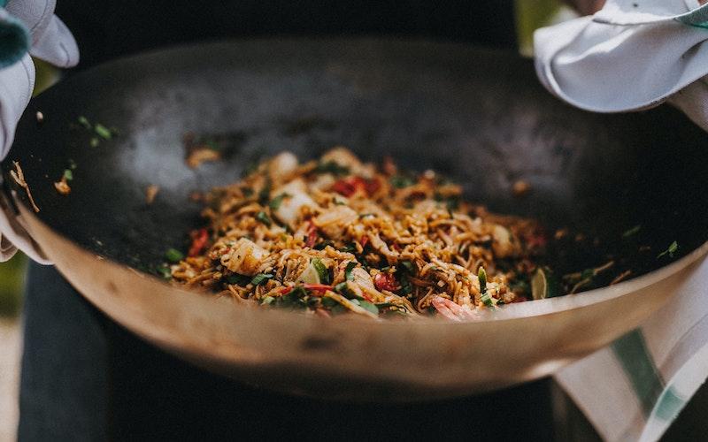 Scallop Pad Thai   Seafood Recipe   Big Green Egg