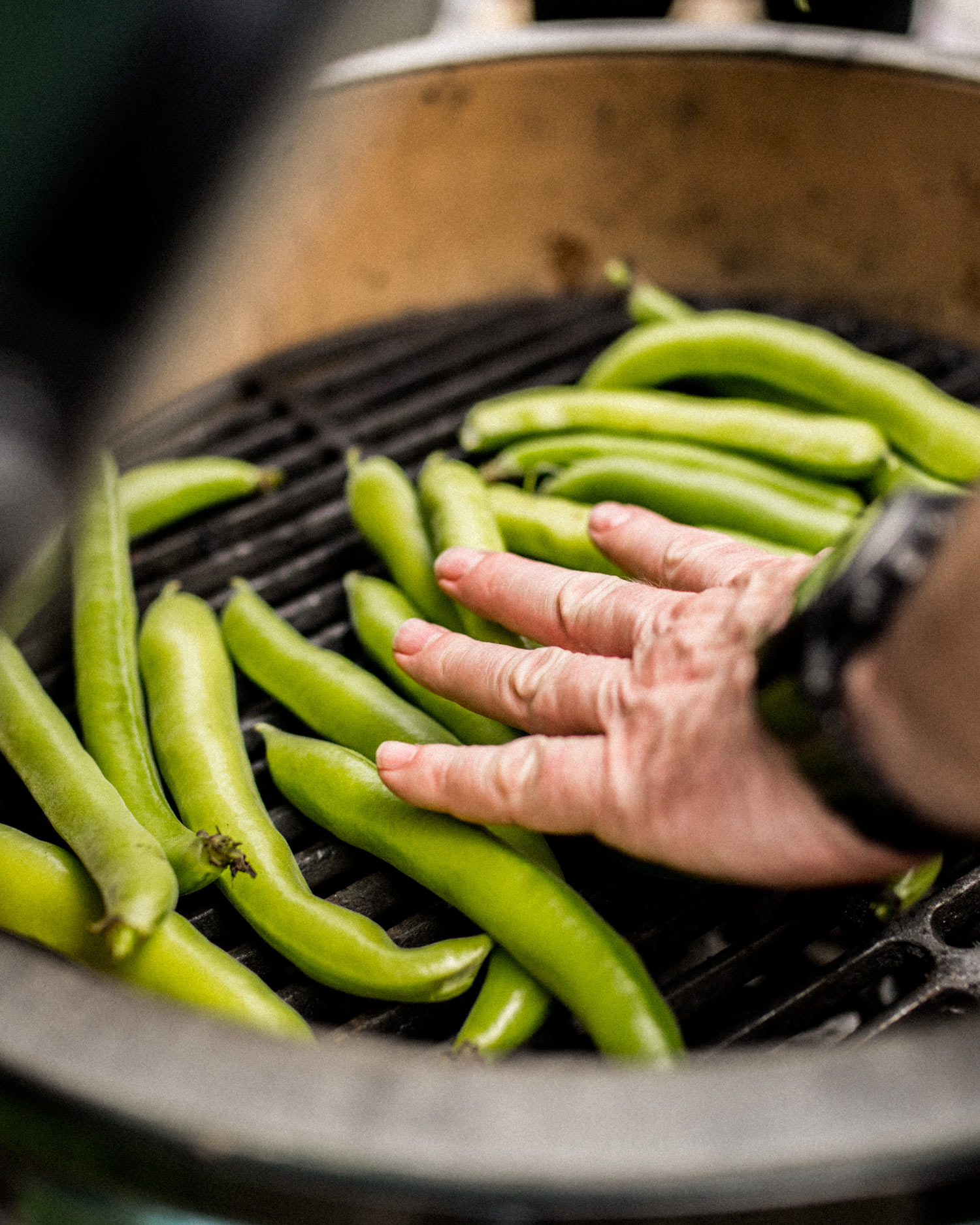 cooking the broad beans