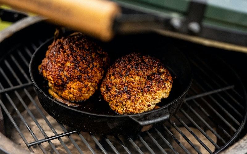 Harissa Baked Cauliflower | Vegetable Recipes | Big Green Egg