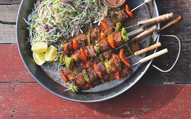Beef Suya Skewers | Tom Kerridge Outdoor Cooking | Big Green Egg