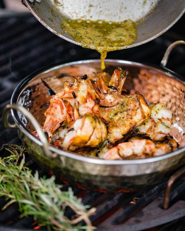 Butterflied Chilli & Lime Prawns   Tom Kerridge Outdoor Cooking   Big Green Egg
