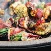 Squid & Chorizo Skewers | Tom Kerridge Outdoor Cooking | Big Green Egg
