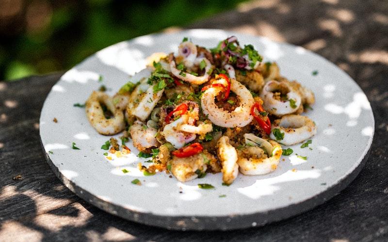 Salt & Pepper Squid   Pan Cooking   Seafood Recipe   Big Green Egg
