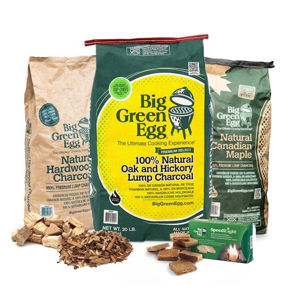 Ultimate Fuel Pack | Lumpwood Charcoal | Smoking chips & Chunks | Big Green Egg