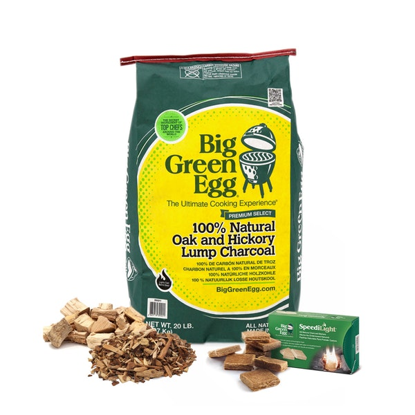 Classic Fuel Pack | Lumpwood charcoal | Premium smoking chips & chunks | Big Green Egg